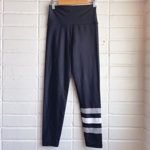AERIE Black Ankle Stripe High Athletic Leggings